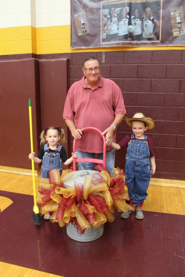 The Mayor (also known as Pooper Scooper) and his grandchildren helpers.