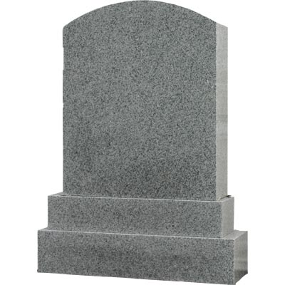 Plain grey monument tombstone